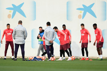 Lionel Messi FC Barcelona Training And Press Conference