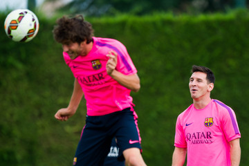 Lionel Messi FC Barcelona Training Session