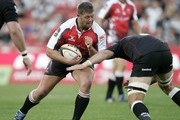 JC Janse van Rensburg of the Lions in action during the Super 14 match between Lions and Sharks from Coca Cola Park Stadium on April 17, 2010 in Johannesburg, South Africa.
