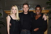 """(L-R) Dakota Fanning, Ewan McGregor and Uzo Aduba attend the after party for """"American Pastoral"""" hosted by Lionsgate, Lakeshore Entertainment and Bloomberg Pursuits at American Cut on October 19, 2016 in New York City."""