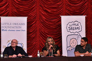 Phil Collins and Orianne Cevey attends the Little Dreams Foundation Gala Press Conference at Faena Hotel on October 18, 2017 in Miami Beach, Florida.