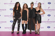 Jesy Nelson, Jade Thirlwall, Leigh-Anne Pinnock and Perrie Edwards of 'Little Mix' launch their new fragrance 'Wishmaker' at Lakeside Shopping Centre on July 27, 2016 in Thurrock, England.