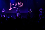 (EXCLUSIVE COVERAGE)  Perrie Edwards, Jesy Nelson, Jade Thirlwall and Leigh-Anne Pinnock from Little Mix perform for KISS FM at The KISS Secret Sessions gig on July 10, 2015 in London, England.