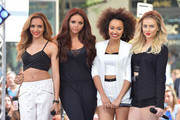 """(L-R) Jade Thirlwall, Jesy Nelson, Leigh-Anne Pinnock and Perrie Edwards of """"Little Mix"""" perform on NBC's """"Today"""" show on June 17, 2014 in New York, New York."""