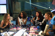 """Perrie Edwards, Leigh-Anne Pinnock, Jesy Nelson and Jade Thirlwall of Little Mix perform on """"The Elvis Duran Z100 Morning Show"""" at Z100 Studio on August 20, 2015 in New York City."""