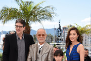 """Director Mark Osborne, Masahiko Tsugawa, Rio Suzuki and Asaka Seto attend a photocall for """"The Little Prince"""" during the 68th annual Cannes Film Festival on May 22, 2015 in Cannes, France."""