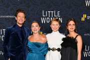 """(L-R) James Norton, Florence Pugh, Eliza Scanlen, and Emma Watson attend the """"Little Women"""" World Premiere at Museum of Modern Art on December 07, 2019 in New York City."""