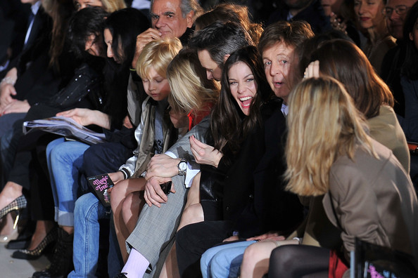 Liv Tyler Liv Tyler and Paul McCartney attend the Stella McCartney Ready to Wear Autumn/Winter 2011/2012 show during Paris Fashion Week at Opera Garnier on March 7, 2011 in Paris, France.