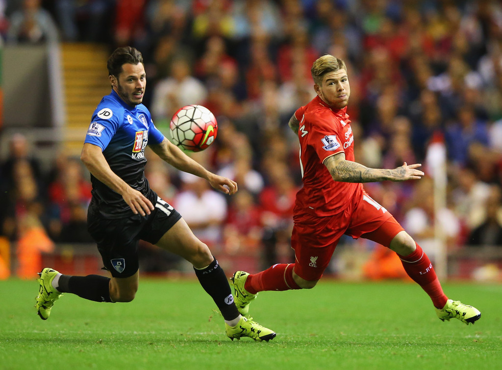 Image result for alberto moreno vs bournemouth