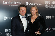 TV Personality Robert Herjavec (L) and Dancer / TV Personality Kym Johnson (R) attend the Living Legends of Aviation Awards at The Beverly Hilton Hotel on January 16, 2020 in Beverly Hills, California.
