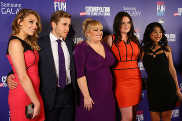 Liza Lapira Cosmopolitan's 'Super Fun Night' with Rebel Wilson