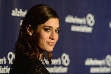 Lizzy Caplan Arrivals at A Night at Sardi's