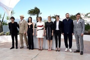 "(L-R) Actors Ben Whishaw, John C. Reilly, Rachel Weisz, Angeliki Papoulia, Lea Seydoux, Ariane Labed, director Yorgos Lanthimos and actor Colin Farrell attend a photocall for ""The Lobster"" during the 68th annual Cannes Film Festival on May 15, 2015 in Cannes, France."