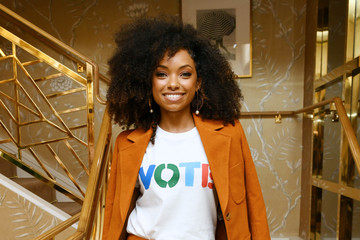 Logan Browning Glamour x Tory Burch Women To Watch Lunch