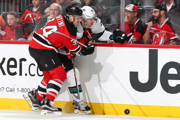 Logan Couture San Jose Sharks v New Jersey Devils