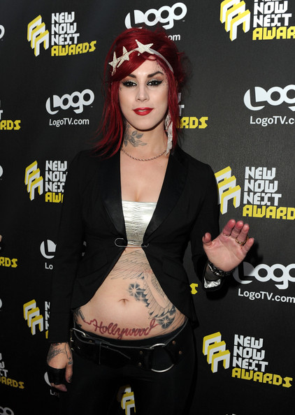 "Kat Von D Kat Von D arrives at Logo's 3rd annual ""NewNowNext Awards"" held at The Edison on June 8, 2010 in Los Angeles, California."