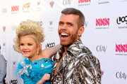 "Television Personality Eden Wood and Perez Hilton attend Logo's ""NewNowNext Awards"" 2012 at Avalon on April 5, 2012 in Hollywood, California."