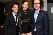 (EXCLUSIVE ACCESS, SPECIAL RATES APPLY) Chad Vaccarino and Ian Axel of A Great Big World and Jessie J (C) attend Logo TV's 2014 NewNowNext Awards at the Kimpton Surfcomber Hotel on December 2, 2014 in Miami Beach, Florida.