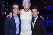 (EXCLUSIVE ACCESS, SPECIAL RATES APPLY) Ian Axel, Betty Who, and Chad Vaccarino attend at Logo TV's 2014 NewNowNext Awards at the Kimpton Surfcomber Hotel on December 2, 2014 in Miami Beach, Florida.