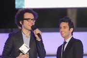 (EXCLUSIVE ACCESS, SPECIAL RATES APPLY) Ian Axel and Chad Vaccarino of A Great Big World accept an award onstage at Logo TV's 2014 NewNowNext Awards at the Kimpton Surfcomber Hotel on December 2, 2014 in Miami Beach, Florida.