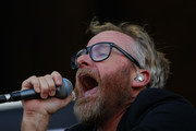 Matt Berninger of The National, performs during the first day of Lollapalooza Chile 2018 at Parque O'Higgins on March 16, 2018 in Santiago, Chile.