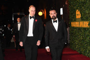 Prince William, Duke of Cambridge and Evgeny Lebedev attend The London Evening Standard Theatre Awards at The Old Vic Theatre on November 13, 2016 in London, England.