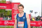 James Cracknell poses for photographs  at the celebrity start at The London Marathon 2015 on April 26, 2015 in London, England.