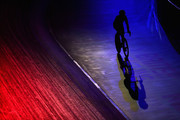 Mark Cavendish of Great Britain warms down on Day 3 of the London Six Day Race and the Lee Valley Velopark, London on October 26, 2017 in London, England.