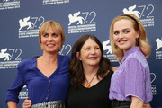 (L-R) Actress Radha Mitchell, director Sue Brooks and Actress Odessa Young attend a photocall for 'Looking For Grace' during the 72nd Venice Film Festival on September 3, 2015 in Venice, Italy.