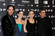 "(L-R) Actor Alberto Ammann, Spanish actresses Pilar Lopez de Ayala, Leonor Watling and director Andrucha Waddington attend ""Lope"" premiere at Capitol Cinema on September 1, 2010 in Madrid, Spain."