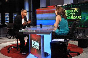 Lori Rothman Trey Songz Visits America's Nightly Scoreboard On FOX Business Network
