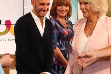 Lorraine Kelly Camilla, Duchess of Cornwall Visits ITV Studios To Mark Their 60th Anniversary