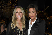 Anastasia Soare (L) and Kris Jenner pose at the Los Angeles Ballet Gala 2020 at The Broad Stage on February 28, 2020 in Santa Monica, California.