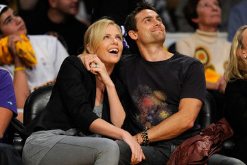 Charlize Theron Stuart Townsend Los Angeles Clippers v Los Angeles Lakers