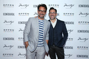 (L-R) Lawrence Zarian and Gregory Zarian attend the Los Angeles Confidential Celebration for Portraits of Pride with GLAAD and Laverne Cox on June 4, 2018 in Beverly Hills, California.