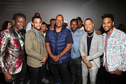 "(L-R) Michael Blackson, Michael Ealy, Deon Taylor, David Oyelowo, Terrence J, and Trey Songz attend the Los Angeles Influencer Special Screening of Sony Pictures' ""BLACK AND BLUE,"" hosted by Terrence J and Director Deon Taylor at ArcLight Hollywood on October 17, 2019 in Hollywood, California."