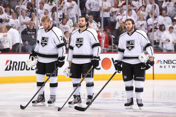 Mike Richards Jeff Carter Los Angeles Kings v Phoenix Coyotes - Game Two