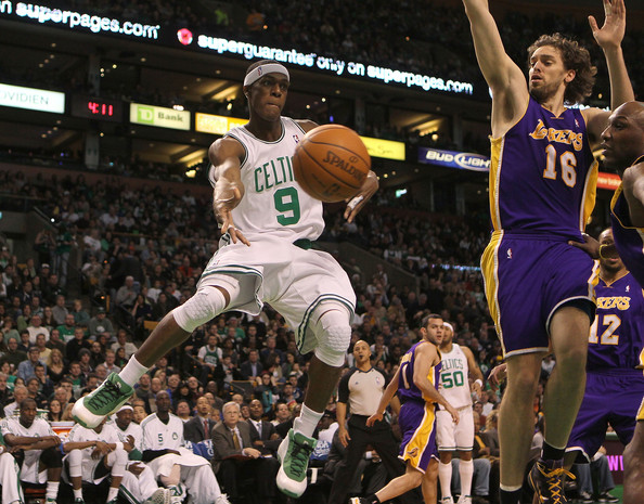 Los angeles lakers v boston celtics rajon rondo