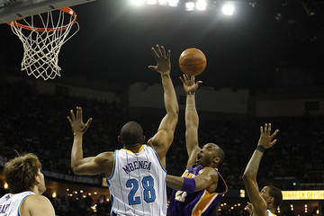 DJ Mbenga Los Angeles Lakers v New Orleans Hornets - Game Four