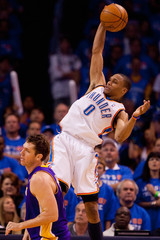 Russell Westbrook Los Angeles Lakers v Oklahoma City Thunder, Game 6