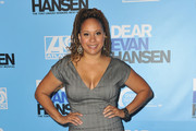 Tracie Thoms attends the Los Angeles opening night performance of 'Dear Evan Hansen' at Ahmanson Theatre on October 19, 2018 in Los Angeles, California.