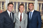 Screenwriter Dustin Lance Black (C), filmmakers Ben Cotner (L) and Ryan White (R)  arrive at the Los Angeles Premiere Of HBO Documentary 'The Case Against 8' at Directors Guild Of America on June 3, 2014 in Los Angeles, California.