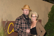 """Actor Chris Sullivan and Rachel Reichard attend the Los Angeles premiere of the HBO series """"Camping"""" at Paramount Studios on October 10, 2018 in Hollywood, California."""