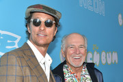 """Matthew McConaughey and Jimmy Buffett attend the Los Angeles Premiere Of Neon And Vice Studio's """"The Beach Bum"""" at ArcLight Hollywood on March 28, 2019 in Hollywood, California."""