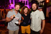 Anders Holm, Blake Anderson, and Kyle Newacheck attend the Los Angeles Premiere of New HBO Series 'The Righteous Gemstones' at Paramount Studios on July 25, 2019 in Hollywood, California.