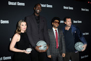"Julia Fox, Kevin Garnett, The Weeknd and Adam Sandler attends the Los Angeles premiere of ""Uncut Gems"" on December 11, 2019 in Los Angeles, California."
