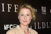 Mamie Gummer arrives at the The Los Angeles Premiere Of WILDLIFE on October 9, 2018 in Los Angeles, California.