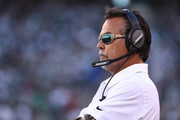Head coach Jeff Fisher of the Los Angeles Rams  looks on against the New York Jets at MetLife Stadium on November 13, 2016 in East Rutherford, New Jersey.