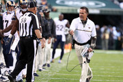 Head coach Jeff Fisher of the Los Angeles Rams reacts in the third quarter against the New York Jets at MetLife Stadium on November 13, 2016 in East Rutherford, New Jersey.