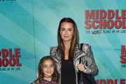 """Television celebrity Kyle Richards and daughter Portia Umansky attend the Los Angeles Red Carpet Screening of """"Middle School"""" in Hollywood, California, on October 5, 2016. / AFP / VALERIE MACON"""